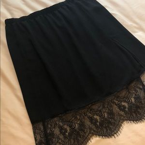 NWOT Lace midi skirt